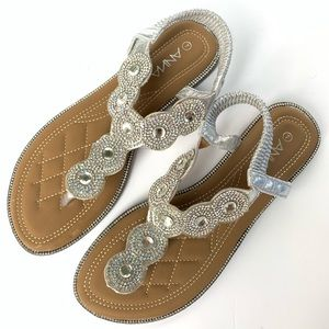 Anna Shoes Silver Isabel Sandal Sz 7 Never Worn
